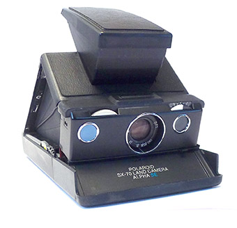 Vintage Polaroid SX-70 Land Camera Brown and Silver Rare Old Camera